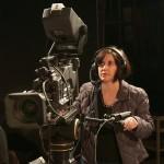 woman operating camera